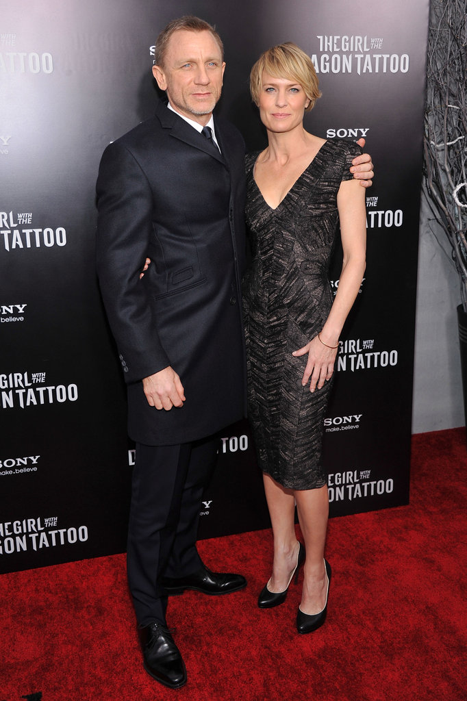 Robin Wright and Daniel Craig celebrated the NYC premiere of The Girl With the Dragon Tattoo.