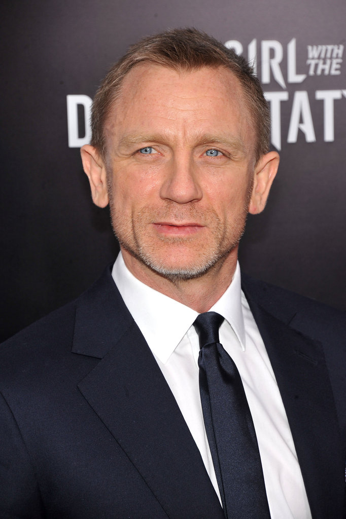 Daniel Craig wore a small smile at the NYC premiere of his latest film.
