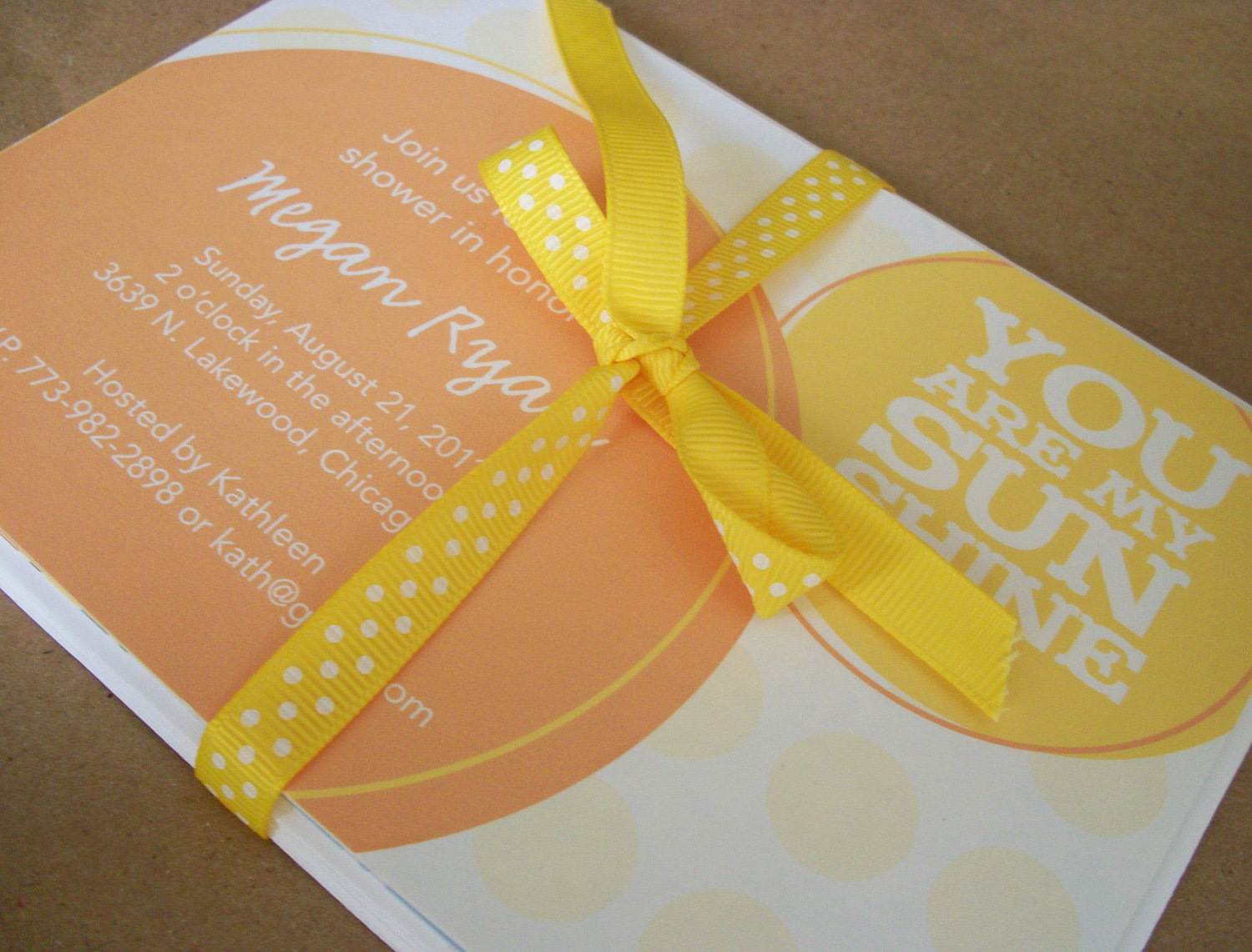 you are my sunshine baby shower invite 2 for 1 shower mama to be