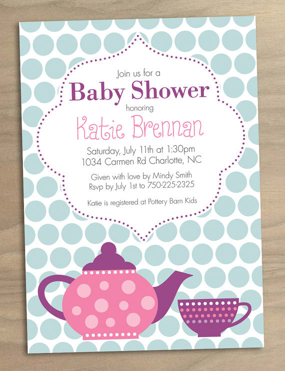 printable tea party baby shower invitation 15 shower mama to be