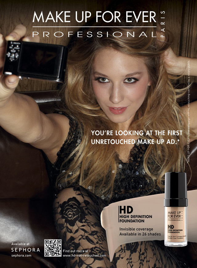 Make Up For Ever's Photoshop-Free Ads