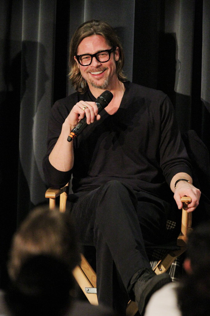 Brad Pitt at a screening of Moneyball in LA.