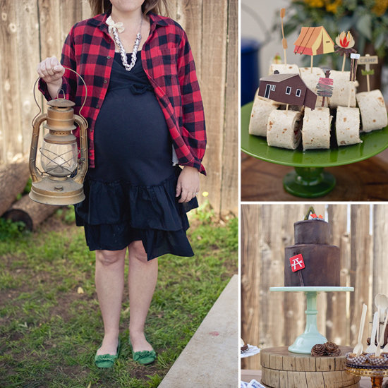 Rustic, Camping-Themed Baby Shower