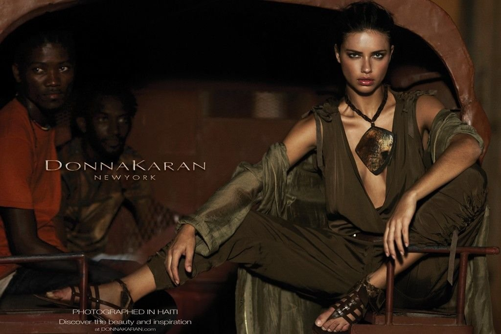 Adriana Lima looks sultry and city chic in the latest batch of Donna Karan Spring '12 ads. Source: Fashion Gone Rogue