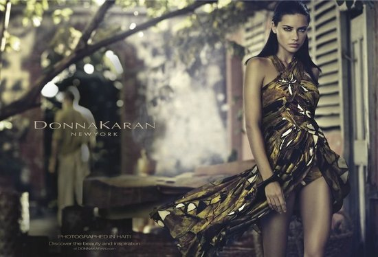 Adriana Lima makes her way through an urban jungle in the latest batch of Donna Karan Spring '12 ads. Source: Fashion Gone Rogue