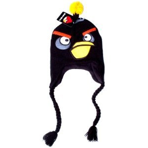 Amazon.com: Angry Birds Bomb Black Bird Plush Laplander Earflap Beanie Character Hat Cap / Officially Licensed Product By Rovio:
