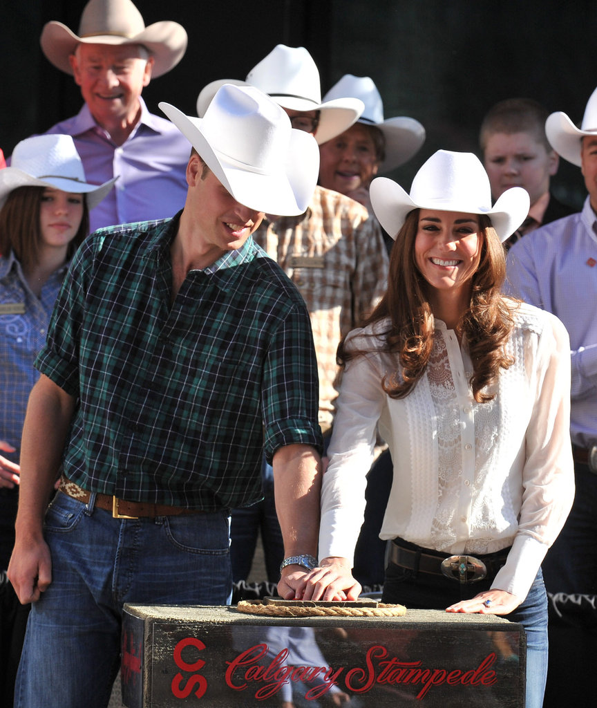 Prince William and Kate Middleton were on hand for the Calgary Stampede Parade in July 2011.