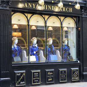 Anya Hindmarch Bespoke Window Pays Tribute to The Iron Lady
