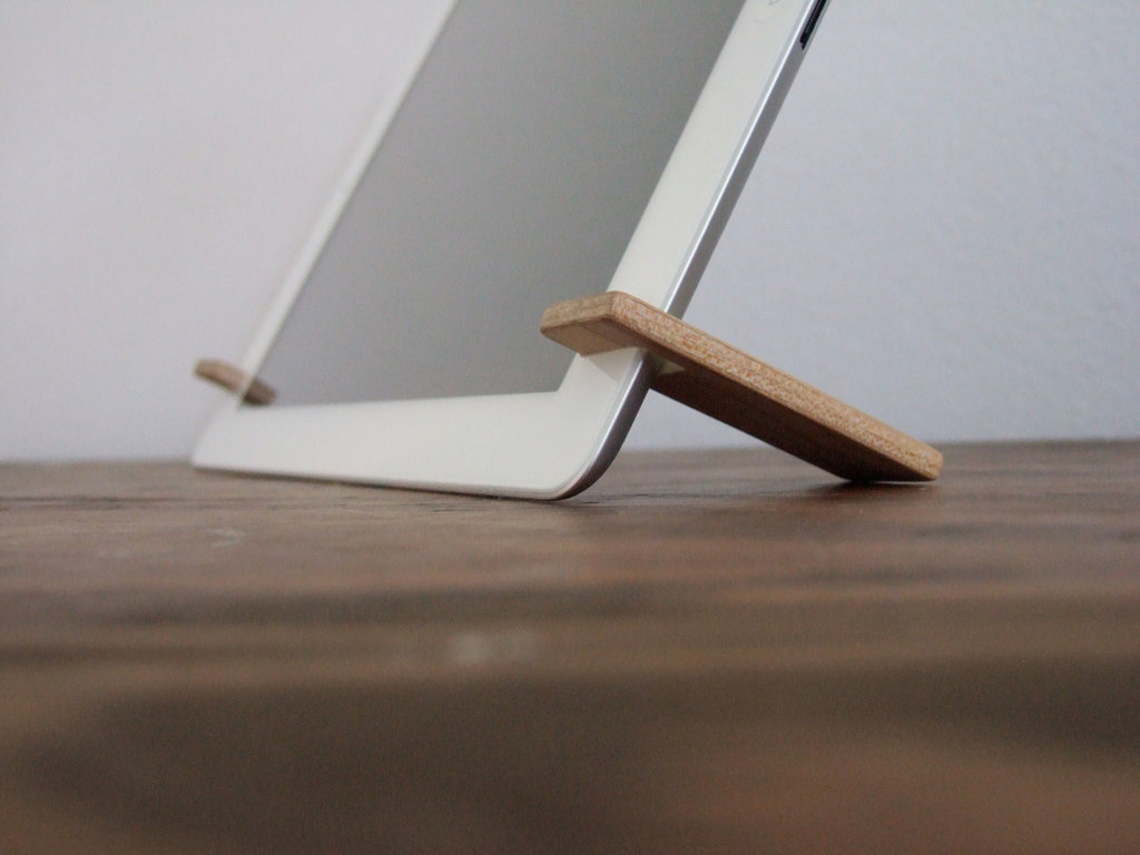 Magnetic iPad stand.