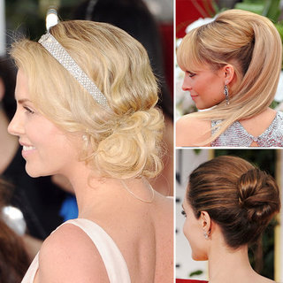 Pictures of the 2012 Golden Globes Hairstyles From the Back