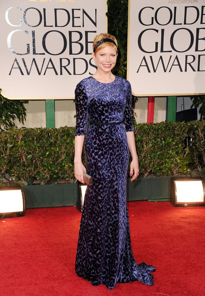 Michelle Williams was in blue Jason Wu for the 2012 Golden Globe Awards.