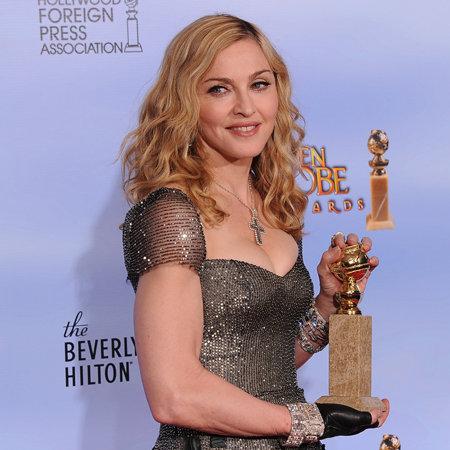 Madonna Golden Globes Press Room (Video)