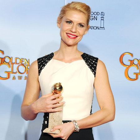 Claire Danes Golden Globes Press Room (Video)