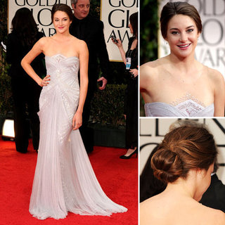 The Descendants Star Shailene Woodley Glows in Lilac Marchesa at the 2012 Golden Globes