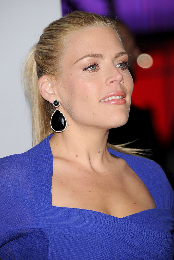 Busy Philipps had large drop earrings in LA.