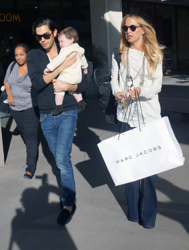 Rachel Zoe was out with her boys Joey and Skyler.
