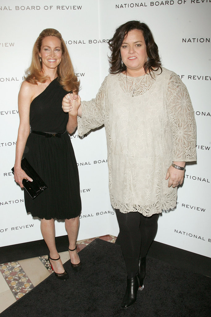Newly-engaged Michelle Rounds and Rosie O'Donnell arrived at the 2011 National Board of Review Awards gala together.