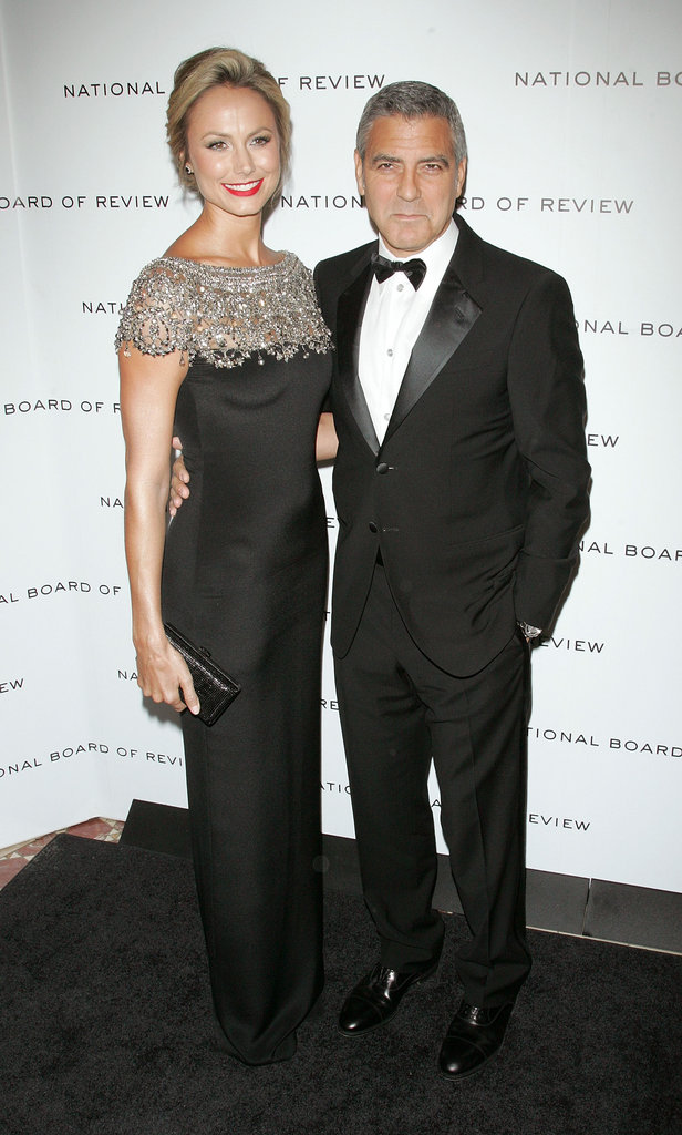 George Clooney had his arm around Stacy Keibler on a night out in NYC.