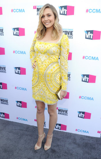 Elizabeth Olsen Stuns in a Yellow, Beaded Pucci at the Critics' Choice Awards