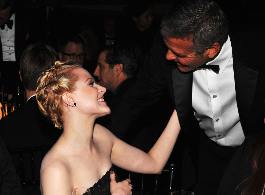 Evan Rachel Wood and George Clooney