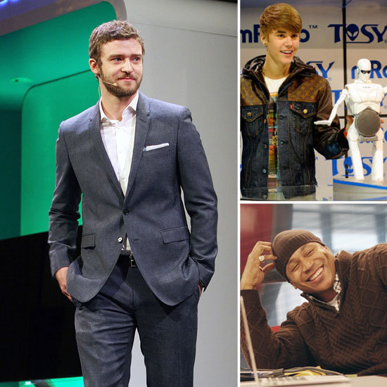 Justin Timberlake, Will Smith, and Celebrities at CES 2012