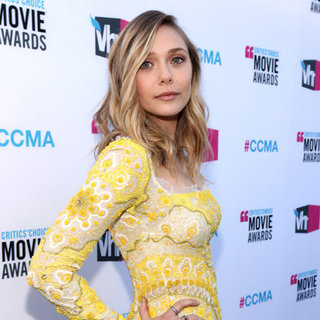 Elizabeth Olsen Yellow Pucci Dress Pictures at 2012 Critics' Choice Awards