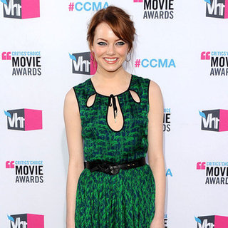 Emma Stone Green Jason Wu Dress Pictures at 2012 Critics' Choice Awards