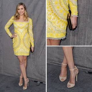 Pictures of Elizabeth Olsen Wearing Yellow Spring '12 Pucci Dress at the 2012 Critic's Choice Awards