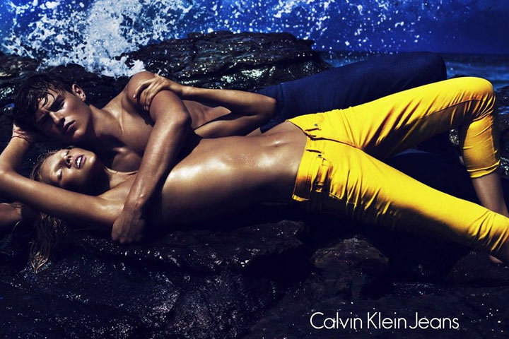 Lara Stone for Calvin Klein Jeans Spring 2012 campaign. Source: Fashion Gone Rogue