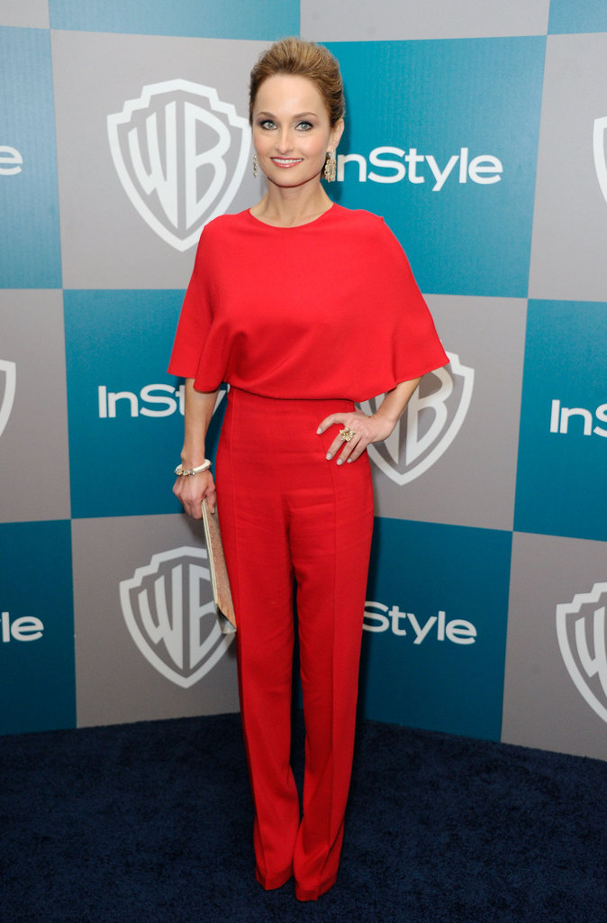 Giada de Laurentiis in all red for InStyle's Golden Globes afterparty.