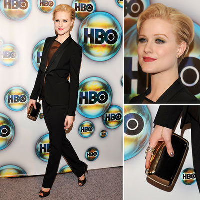 Evan Rachel Wood at HBO Golden Globes Afterparty 2012