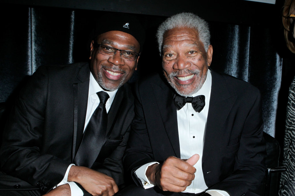 Photo of Morgan Freeman & his  Son  Alfonso Freeman