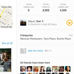 Foursquare Menus and Food Prices