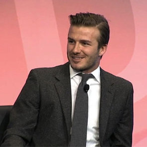 David Beckham Google Video Interview on New Contract, Baby Harper and Royal Wedding
