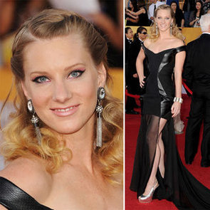 Glee Star Heather Morris Goes for Sheer and Leather for the 2012 SAG Awards Red Carpet? Like it or loathe it?