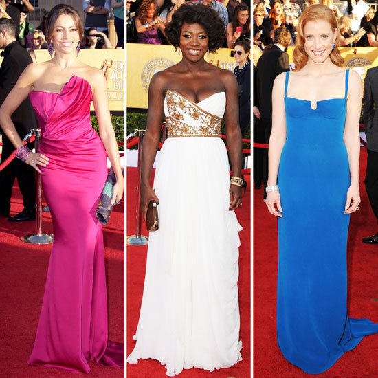 SAG Awards Trend Roundup — Sexy Slits, Rainbow Bright Hues, Chic Whites, and More