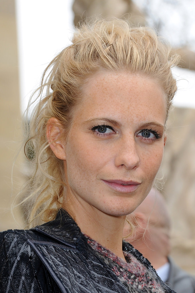 Poppy Delevigne attended the Chanel show.