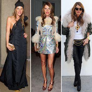 Pictures of Anna Dello Russo's Front Row Style at Fashion Week