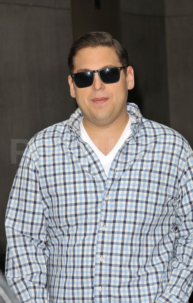 Jonah Hill made his way to an NYC TV appearance.