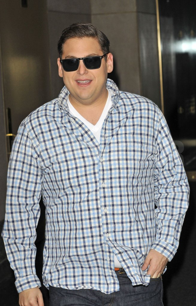 Jonah Hill smiled behind his sunglasses.