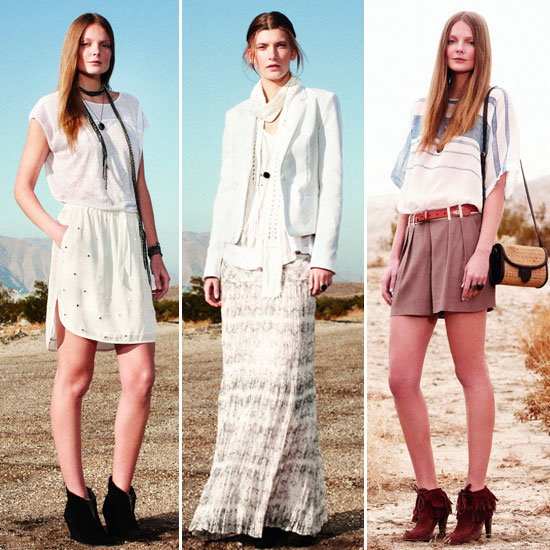 Your Festival Fashion Guide Via Club Monaco's Spring 2012 Look Book: Cue lots of Paisley, Pyjama Dressing, Maxi Skirts and more