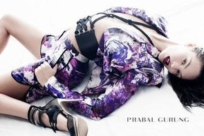 Candice Swanepoel Dyes Her Hair Brunette For Prabal Gurung Spring/Summer 2012 Campaign