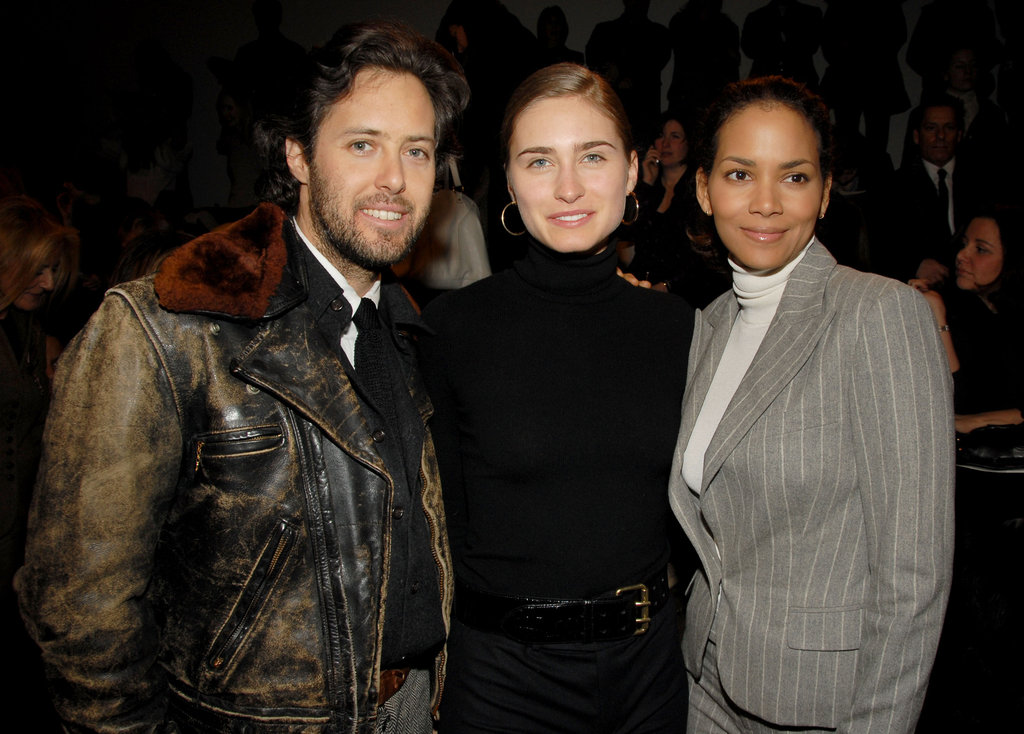 Halle Berry posed with Lauren Bush and David Lauren during Ralph Lauren's February 2006 show.