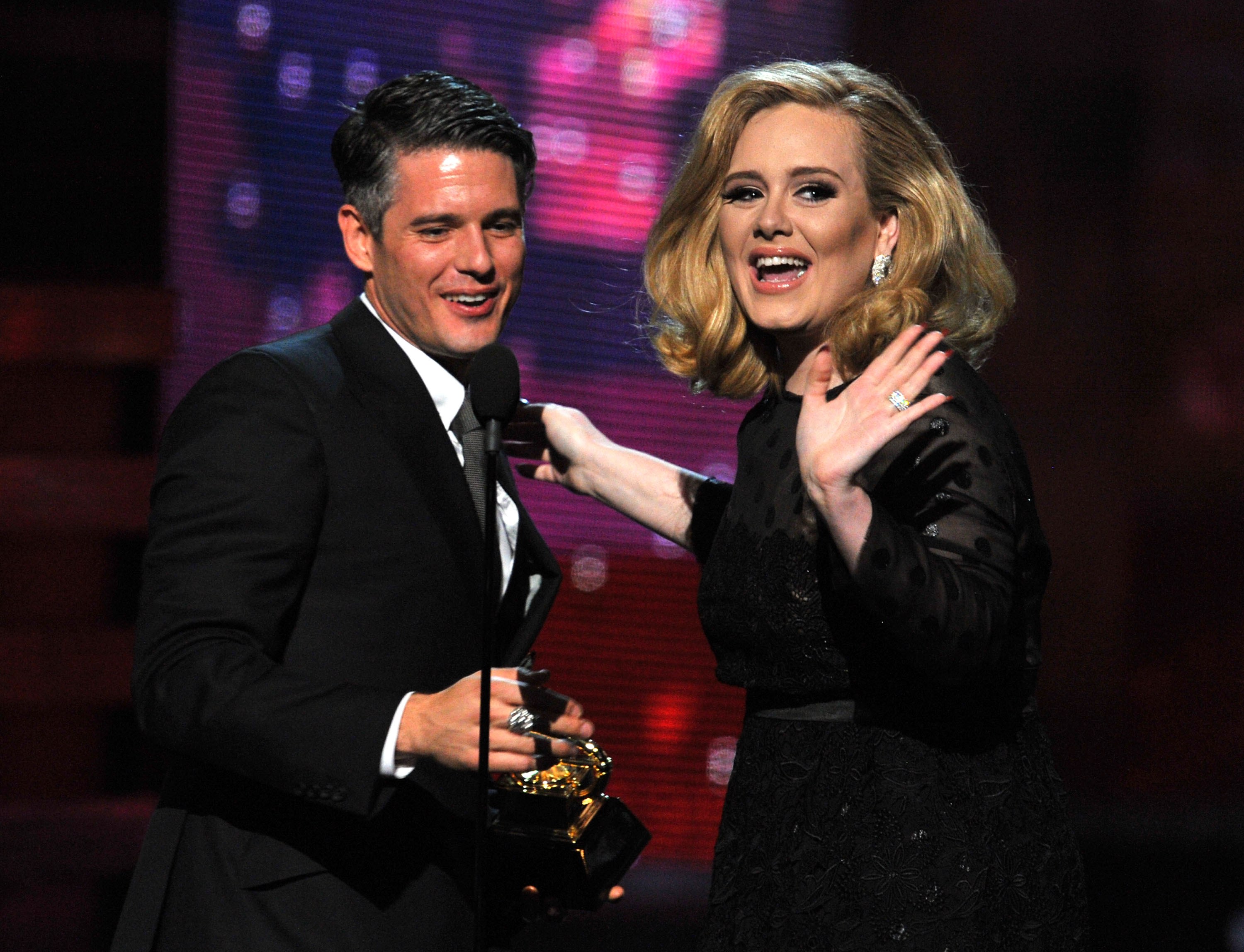 Adele gave a wave to her fans.