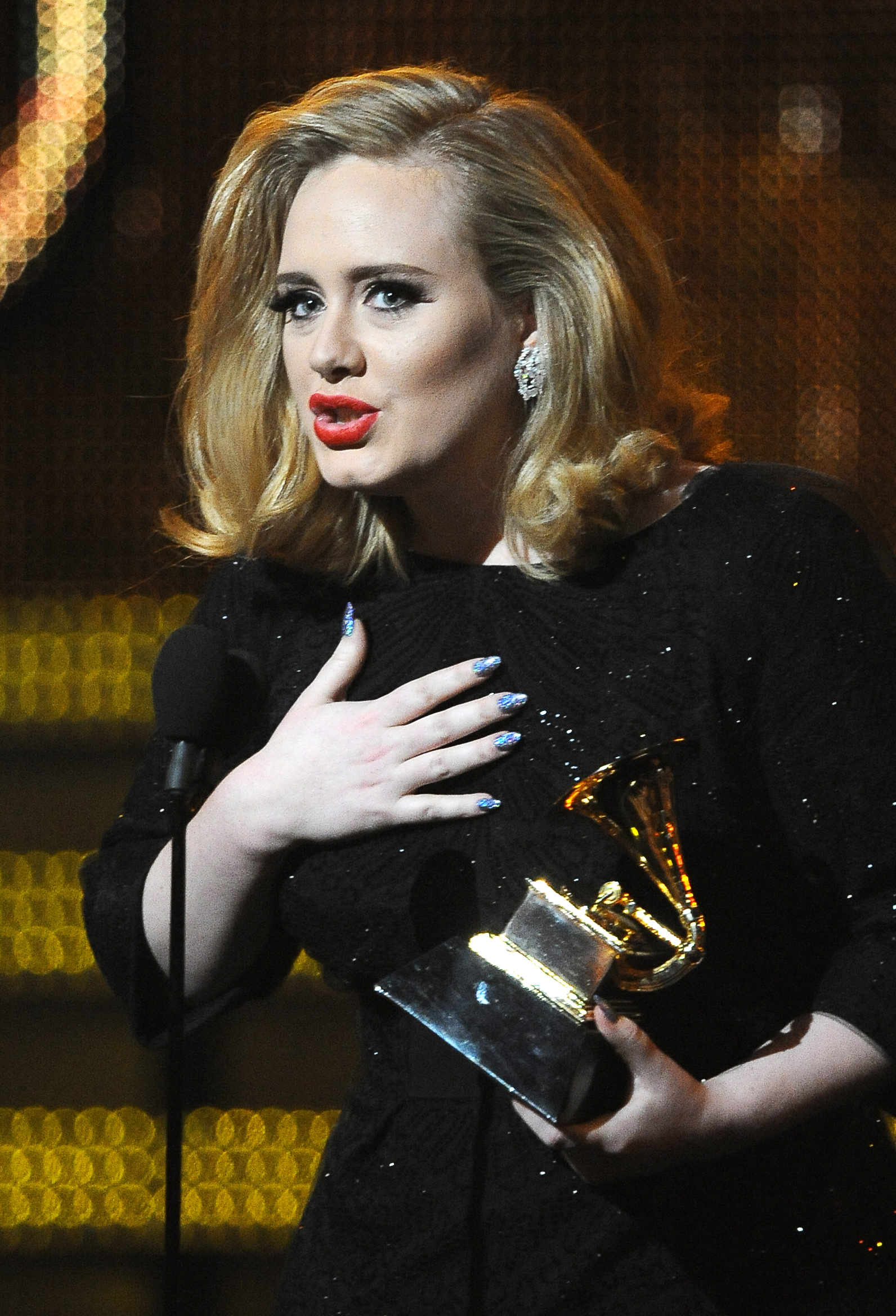 Adele took the stage at the 2012 Grammys.