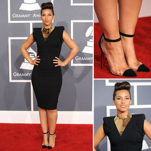 Alicia Keys in Alexandre Vauthier and Christian Louboutin at the2012 Grammy Awards: Love Those Perspex Heels!