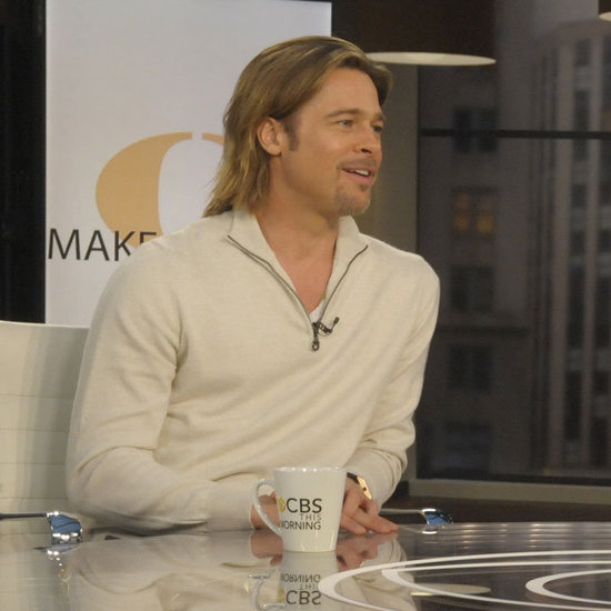 Brad Pitt on CBS This Morning With Charlie Rose Pictures