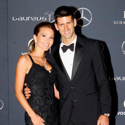 Novak Djokovic, Jelena Ristic, Chris Hemsworth, Pregnant Elsa Pataky Pictures at 2012 Laureus World Sports Awards