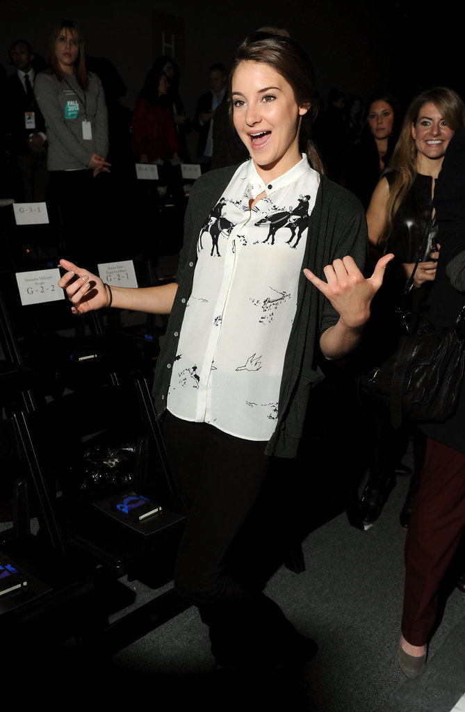 Shailene Woodley was excited to see the Honor show.