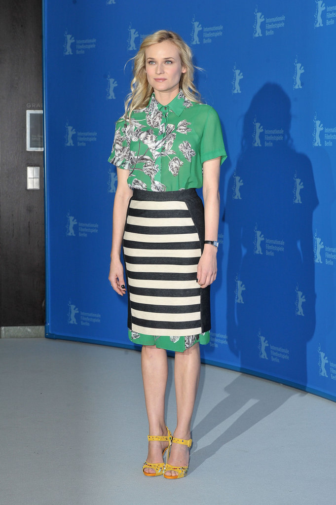 Diane Kruger wore 10 Crosby by Derek Lam to the Berlin Film Festival.